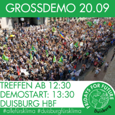 Infos zur Duisbuger FFF-Großdemo am 20.9.2019
